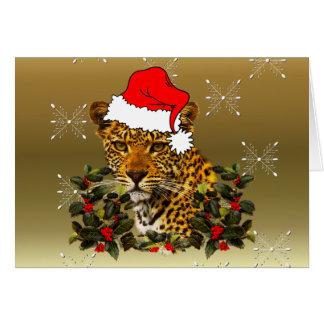 Christmas Wildcat Card