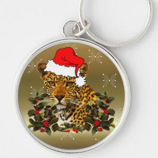 Christmas Wildcat Keychain