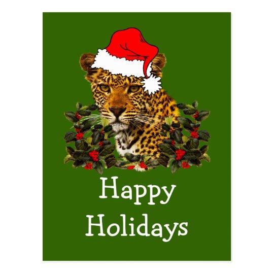 Christmas Wildcat Postcard