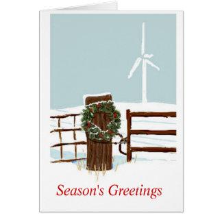 Christmas Wind Farm Card