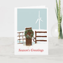 Christmas Wind Farm Holiday Card