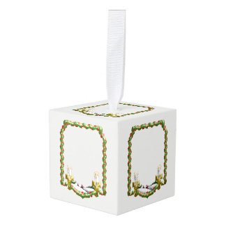 Christmas Window Cube Ornament