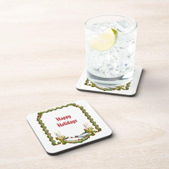 Christmas Window Drink Coaster