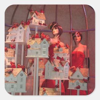 Christmas Window  in New York Square Sticker