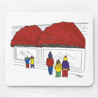 Christmas Window Shopping NYC Holiday Mousepad