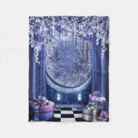 Christmas Window Small Fleece Blanket