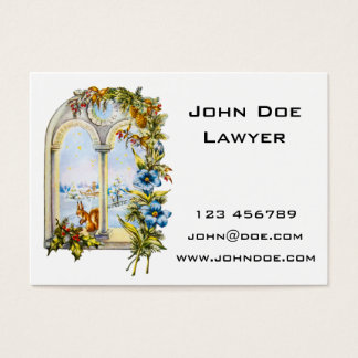 Christmas Window Squirrel Business Card