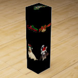"""Christmas Wine Gift Box w/ dogs<br><div class=""""desc"""">Christmas Wine Gift Box w/ dogs Golden doodle Scottish terrier Basset hound and Tree walking coon hound  Created by bearsandmore</div>"""