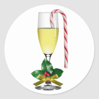 Christmas Wine Glass envelope stickers