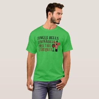 Christmas Wine T Shirt Jingle Bells Zinfandels Pas