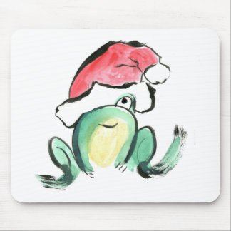Christmas Winking Froggy Mouse Pad