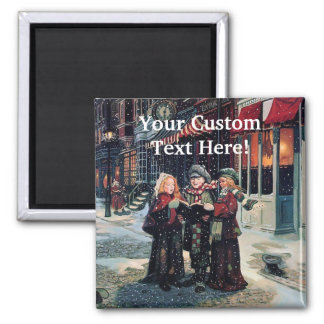 Christmas Winter Carolers Magnet