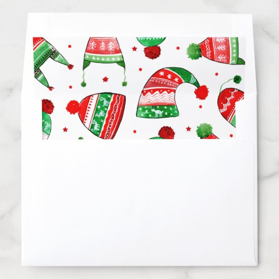 Christmas Winter Hats | Holidays Envelope Liner