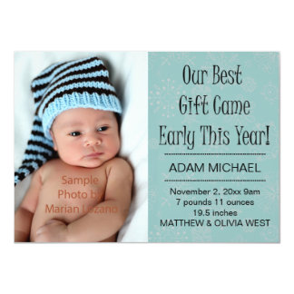 Christmas Winter Holiday Birth Announcements