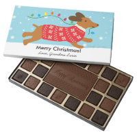 Christmas Winter Holiday Wishes Sweater Dog 45 Piece Box Of Chocolates