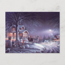 Christmas Winter Magic Holiday Postcard