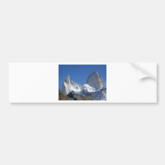 Christmas winter mountains landscape bumper sticker
