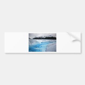 Christmas winter river white landscape bumper sticker