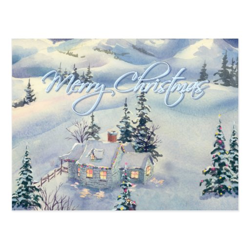 CHRISTMAS WINTER SCENE by SHARON SHARPE Post Card