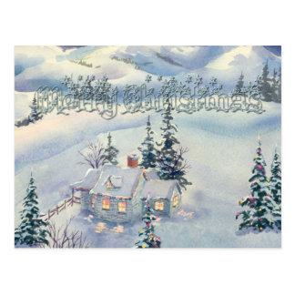 CHRISTMAS WINTER SCENE by SHARON SHARPE Postcard