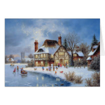Christmas Winter Scene Card