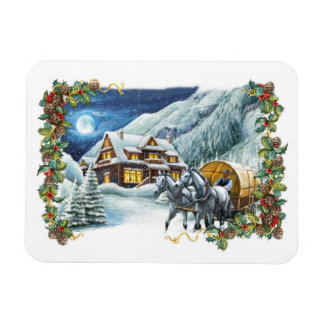 Christmas Winter Scene Flexi Magnet