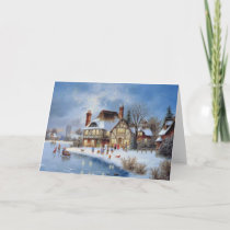 Christmas Winter Scene Holiday Card