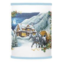 Christmas Winter Scene Lamp Shade