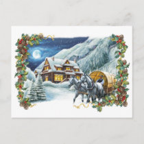 Christmas Winter Scene Postcard