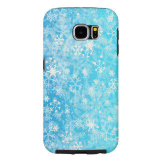 christmas winter snow flakes samsung galaxy s6 case