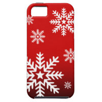 Christmas Winter Snowflakes red iPhone 5 Cases