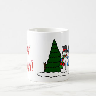Christmas Winter Snowmen Friends Coffee Mug