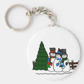 Christmas Winter Snowmen Friends Keychain
