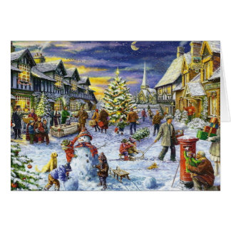 Christmas Winter town Card