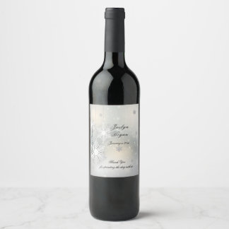 Christmas, Winter, Wedding Wine, Custom Wine Label