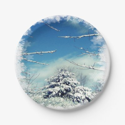Christmas Winter Wonderland 7 Inch Paper Plates 7 Inch Paper Plate