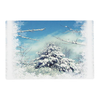 Christmas Winter Wonderland Laminated Placemat