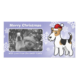 Christmas Wire Fox Terrier Card