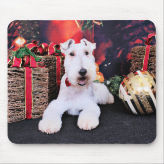 Christmas - Wire Fox Terrier - Dexter Mouse Pad