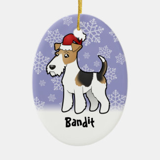 Christmas Wire Fox Terrier Ornaments