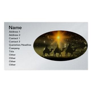 Christmas Wise Men Golden Star of Bethlehem Business Card