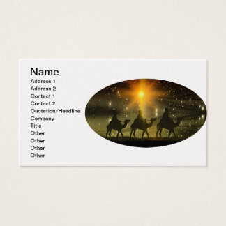 Christmas Wise Men Golden Star of Bethlehem Business Card