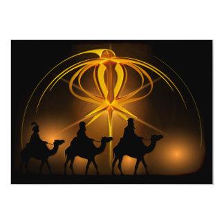 Christmas Wise Men Golden Star of Bethlehem Card