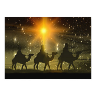 Christmas Wise Men Golden Star of Bethlehem Card