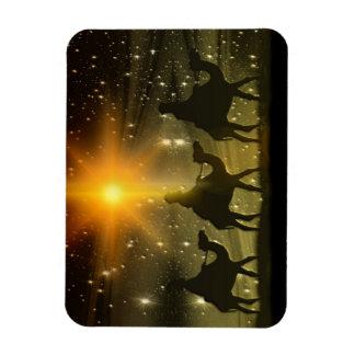 Christmas Wise Men Golden Star of Bethlehem Magnet