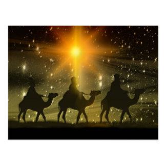 Christmas Wise Men Golden Star of Bethlehem Postcard
