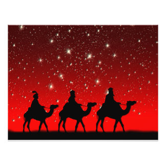 Christmas Wise Men Red Sky Star Lite Night Flyer
