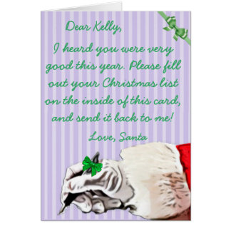 letter from santa claus gifts on zazzle