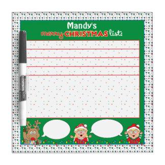 Christmas Wish List Dry Erase Board