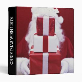 Christmas Wish Lists Organizer Vinyl Binder